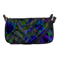 Colorful Abstract Stained Glass G301 Shoulder Clutch Bags by MedusArt