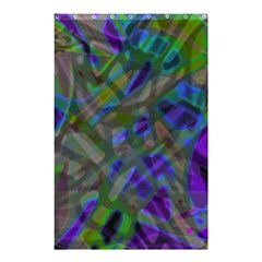 Colorful Abstract Stained Glass G301 Shower Curtain 48  X 72  (small)  by MedusArt