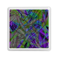 Colorful Abstract Stained Glass G301 Memory Card Reader (square)  by MedusArt