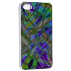 Colorful Abstract Stained Glass G301 Apple Iphone 4/4s Seamless Case (white) by MedusArt