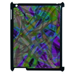 Colorful Abstract Stained Glass G301 Apple Ipad 2 Case (black) by MedusArt