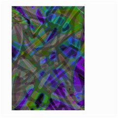 Colorful Abstract Stained Glass G301 Large Garden Flag (two Sides) by MedusArt
