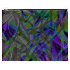 Colorful Abstract Stained Glass G301 Cosmetic Bag (xxxl)  by MedusArt
