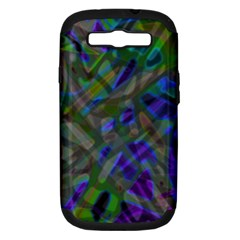Colorful Abstract Stained Glass G301 Samsung Galaxy S Iii Hardshell Case (pc+silicone) by MedusArt