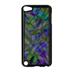 Colorful Abstract Stained Glass G301 Apple Ipod Touch 5 Case (black) by MedusArt