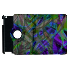 Colorful Abstract Stained Glass G301 Apple Ipad 2 Flip 360 Case by MedusArt