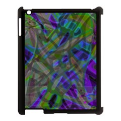 Colorful Abstract Stained Glass G301 Apple Ipad 3/4 Case (black) by MedusArt