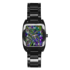Colorful Abstract Stained Glass G301 Stainless Steel Barrel Watch by MedusArt