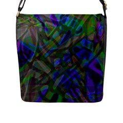 Colorful Abstract Stained Glass G301 Flap Messenger Bag (l)  by MedusArt