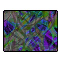 Colorful Abstract Stained Glass G301 Double Sided Fleece Blanket (small)  by MedusArt