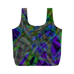 Colorful Abstract Stained Glass G301 Full Print Recycle Bags (m)  by MedusArt