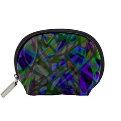 Colorful Abstract Stained Glass G301 Accessory Pouches (small)  by MedusArt