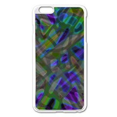 Colorful Abstract Stained Glass G301 Apple Iphone 6 Plus/6s Plus Enamel White Case by MedusArt