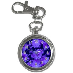 Phenomenal Blossoms Blue Key Chain Watches by MoreColorsinLife