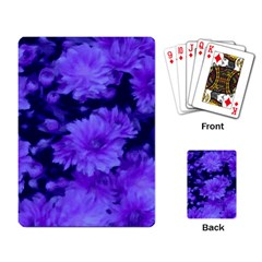 Phenomenal Blossoms Blue Playing Card by MoreColorsinLife