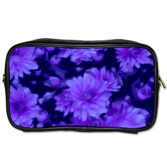 Phenomenal Blossoms Blue Toiletries Bags by MoreColorsinLife
