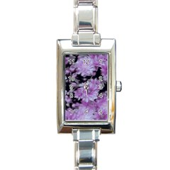 Phenomenal Blossoms Lilac Rectangle Italian Charm Watches by MoreColorsinLife