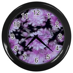 Phenomenal Blossoms Lilac Wall Clocks (black)