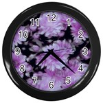 Phenomenal Blossoms Lilac Wall Clocks (Black) Front