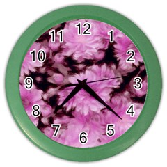 Phenomenal Blossoms Pink Color Wall Clocks