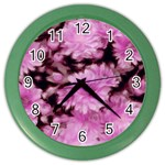 Phenomenal Blossoms Pink Color Wall Clocks Front