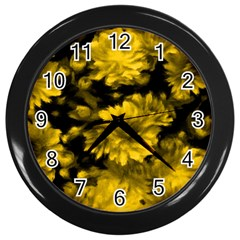 Phenomenal Blossoms Yellow Wall Clocks (black)