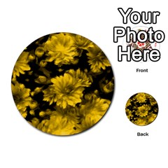Phenomenal Blossoms Yellow Multi Purpose Cards (round)