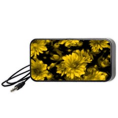 Phenomenal Blossoms Yellow Portable Speaker (black)  by MoreColorsinLife