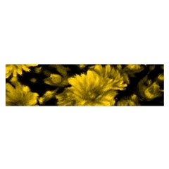 Phenomenal Blossoms Yellow Satin Scarf (oblong)