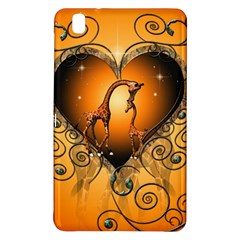 Funny Cute Giraffe With Your Child In A Heart Samsung Galaxy Tab Pro 8 4 Hardshell Case by FantasyWorld7