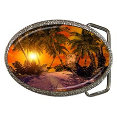Wonderful Sunset In  A Fantasy World Belt Buckles by FantasyWorld7