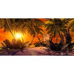Wonderful Sunset In  A Fantasy World Congrats Graduate 3D Greeting Card (8x4)  Back