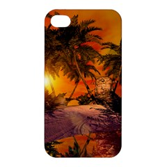 Wonderful Sunset In  A Fantasy World Apple Iphone 4/4s Premium Hardshell Case by FantasyWorld7