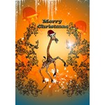 Funny, Cute Christmas Giraffe LOVE 3D Greeting Card (7x5)  Inside