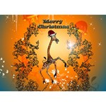Funny, Cute Christmas Giraffe LOVE 3D Greeting Card (7x5)  Back
