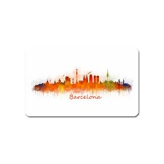 Barcelona City Art Magnet (name Card) by hqphoto