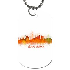 Barcelona City Art Dog Tag (one Side) by hqphoto