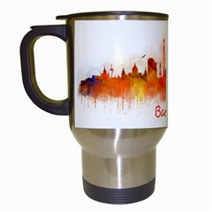 Barcelona City Art Travel Mugs (white) by hqphoto