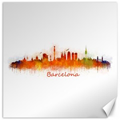 Barcelona City Art Canvas 16  X 16   by hqphoto