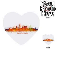 Barcelona City Art Multi Purpose Cards (heart)  by hqphoto