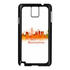 Barcelona City Art Samsung Galaxy Note 3 N9005 Case (black) by hqphoto