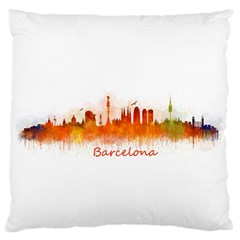 Barcelona City Art Large Flano Cushion Cases (one Side)  by hqphoto