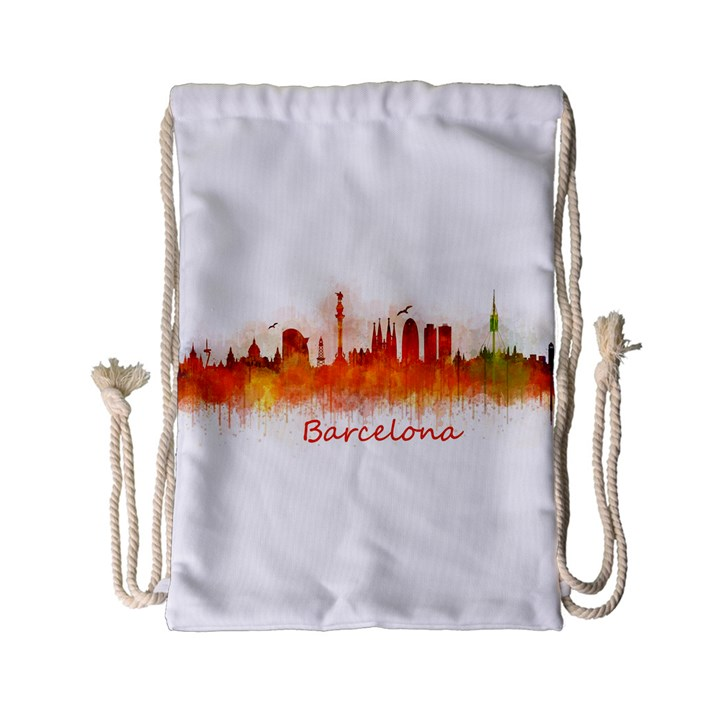 Barcelona City Art Drawstring Bag (Small)