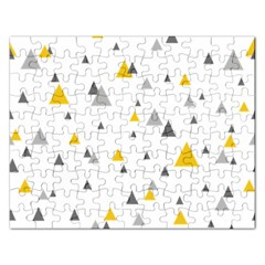 Pastel Random Triangles Modern Pattern Rectangular Jigsaw Puzzl by Dushan
