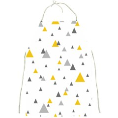 Pastel Random Triangles Modern Pattern Full Print Aprons by Dushan