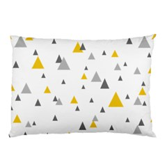 Pastel Random Triangles Modern Pattern Pillow Cases (two Sides) by Dushan