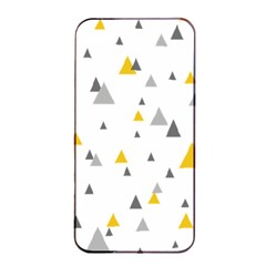 Pastel Random Triangles Modern Pattern Apple Iphone 4/4s Seamless Case (black) by Dushan