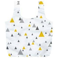 Pastel Random Triangles Modern Pattern Full Print Recycle Bags (l)  by Dushan