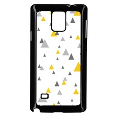 Pastel Random Triangles Modern Pattern Samsung Galaxy Note 4 Case (black) by Dushan