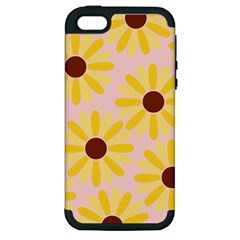 Sunflower Apple Iphone 5 Hardshell Case (pc+silicone) by CraftyLittleNodes